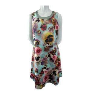 Superstition Pansy Print Dress Size 14